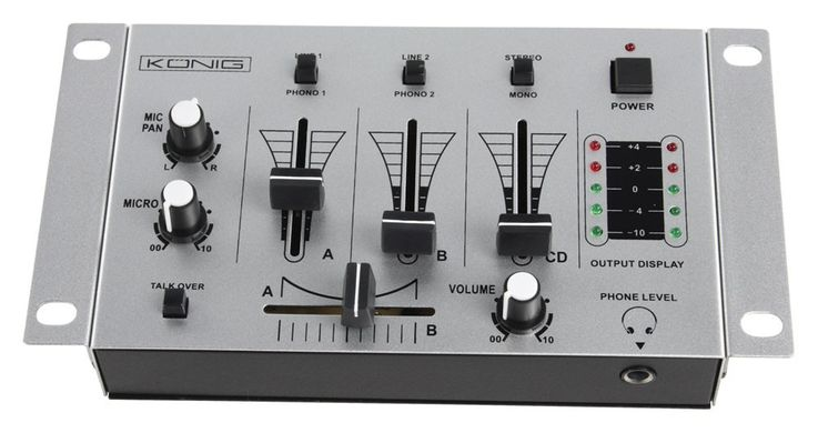 3 channel DJ mixer BASIC dough mixer blender set includes microphone – Bild 4