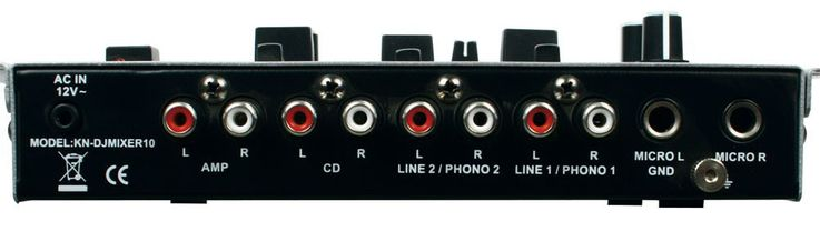 3-Channel DJ Mixer beginners mixer stereo Mono selection in the set including headphones – Bild 5