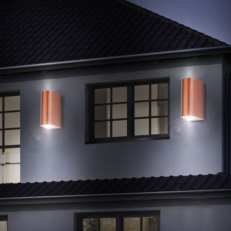 2 set RGB LED wall lamps in aluminium for your outdoor area – Bild 4