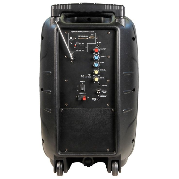 400 Watt live party music sound system with radio and cable microphone – Bild 5