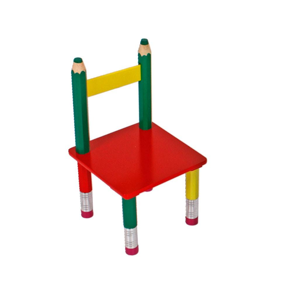 bunte kindertischgruppe aus massivholz im bleistift design. Black Bedroom Furniture Sets. Home Design Ideas