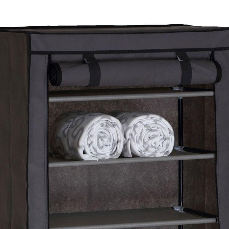 Design Shoe cabinet housing shelves with 8 shelves grey RIMINI – Bild 3