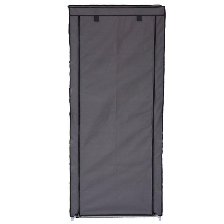 Design Shoe cabinet housing shelves with 8 shelves grey RIMINI – Bild 4