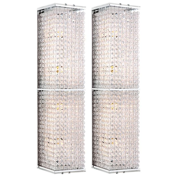 Set of 2 crystal sconces, height 37.5 cm CALOY – Bild 1
