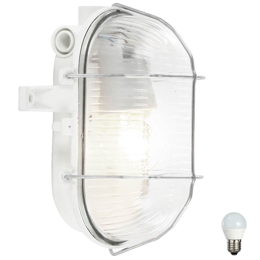led 6 watt feuchtraum keller leuchte in wei unsichtbar. Black Bedroom Furniture Sets. Home Design Ideas