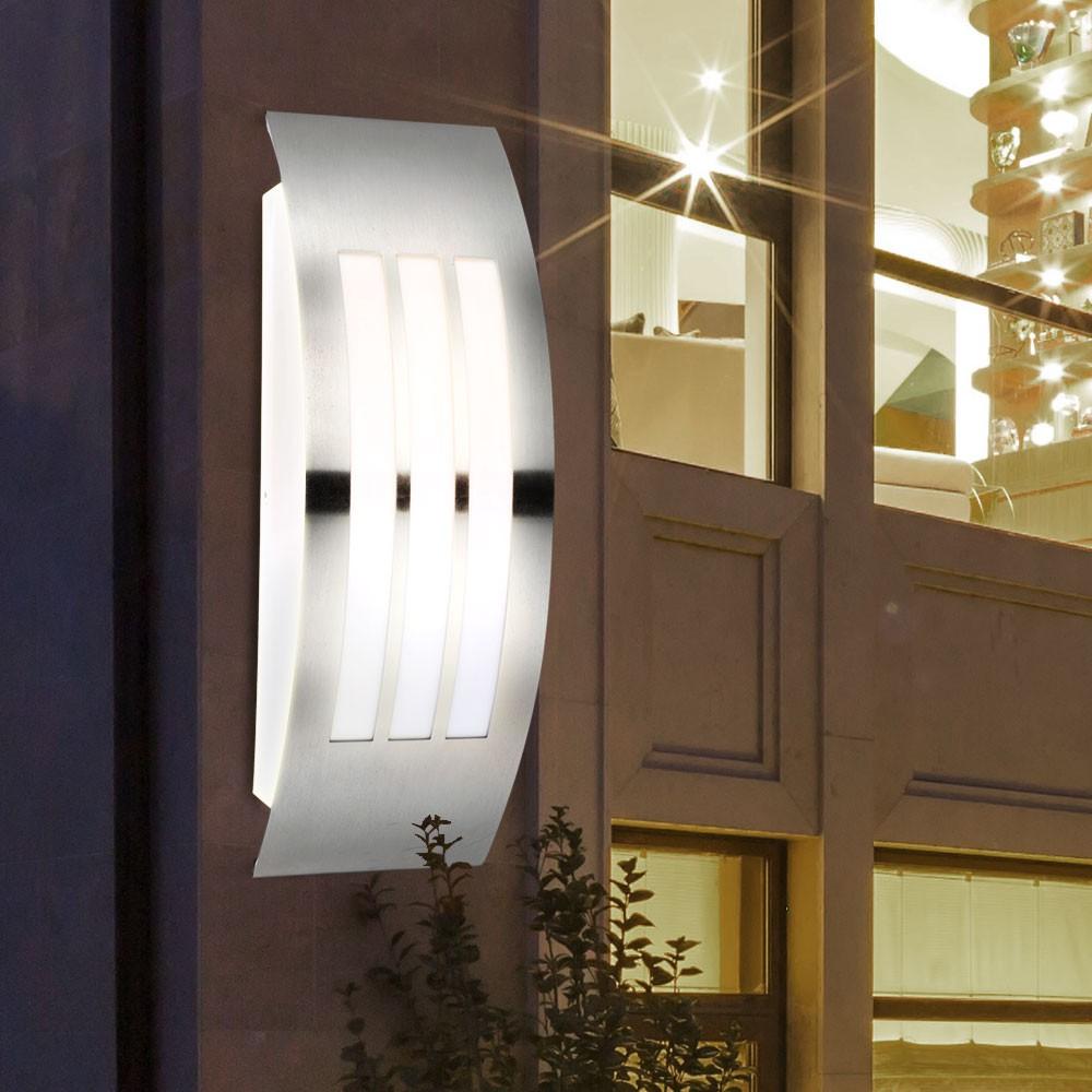 led au enbereich wandleuchte aus edelstahl mit e27 fassung unsichtbar lampen m bel. Black Bedroom Furniture Sets. Home Design Ideas