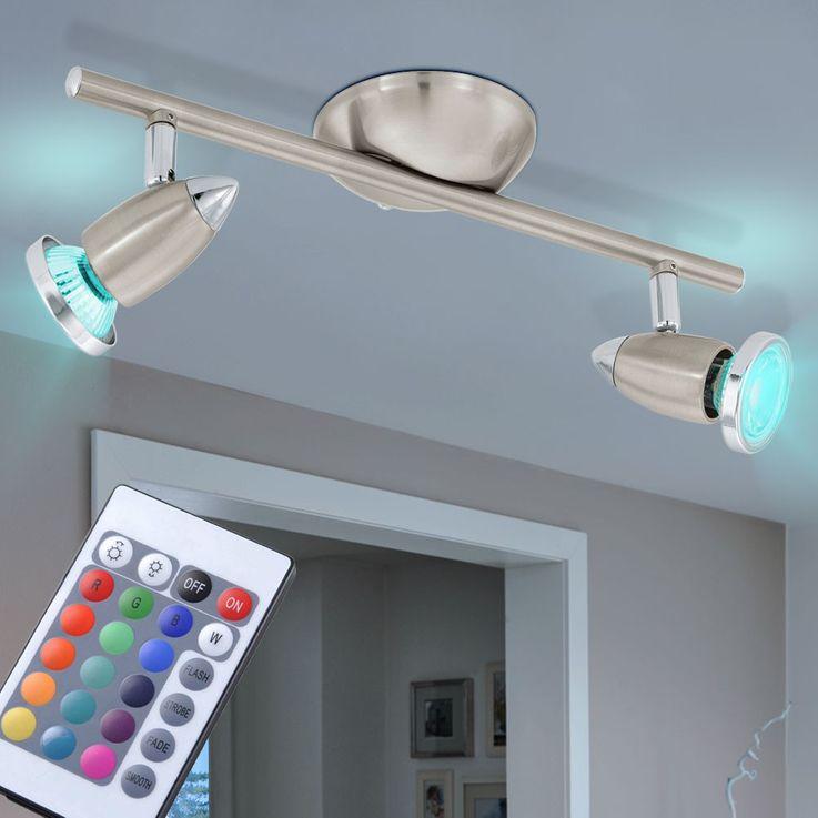 Spot de plafond LED couleur changeur avec deux spots mobiles – Bild 2