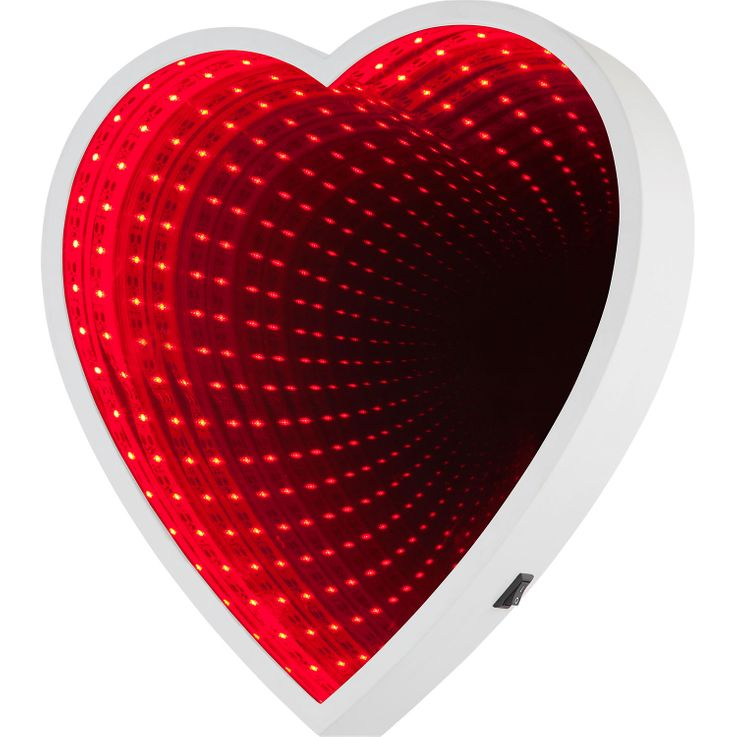 LED Wall Mirror Make Up Bathroom Hallway Cosmetic Deco Lamp Red Heart Design Lamp  Globo 84024 – Bild 1