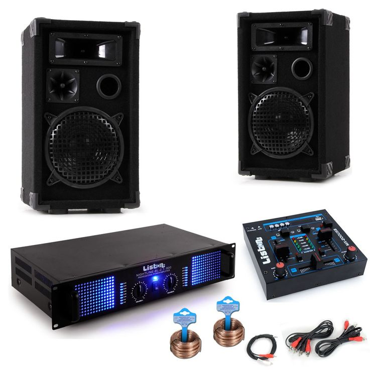 PA system Carnival Mardi Gras Carnival car music system boxes amplifier USB mixer DJ Helau – Bild 1