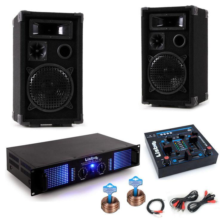 PA System Fasching Fastnacht Karnevalswagen Musikanlage Boxen Verstärker USB Mixer DJ-Helau – Bild 1