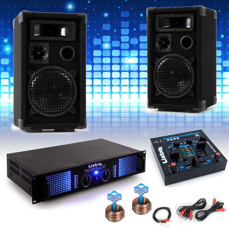 PA system Carnival Mardi Gras Carnival car music system boxes amplifier USB mixer DJ Helau – Bild 2