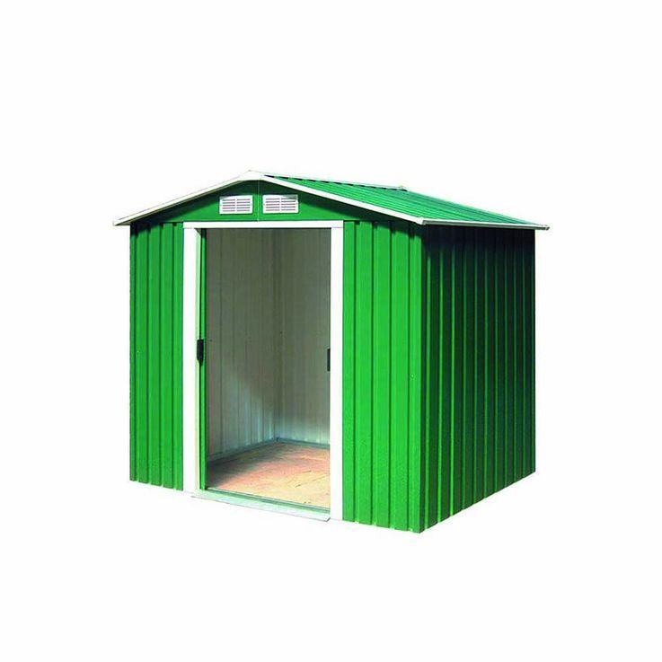 Tepro Metallgerätehaus inkl. Unterkonstrktion 6x4 grün RIVERTON 7001 – Bild 1