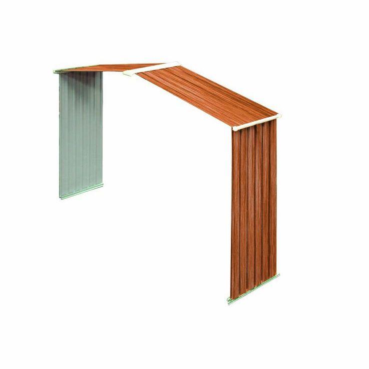 Tepro Metallgerätehaus inkl. Unterkonstrktion 6x6 Holzoptik RIVERTON 7006 – Bild 3