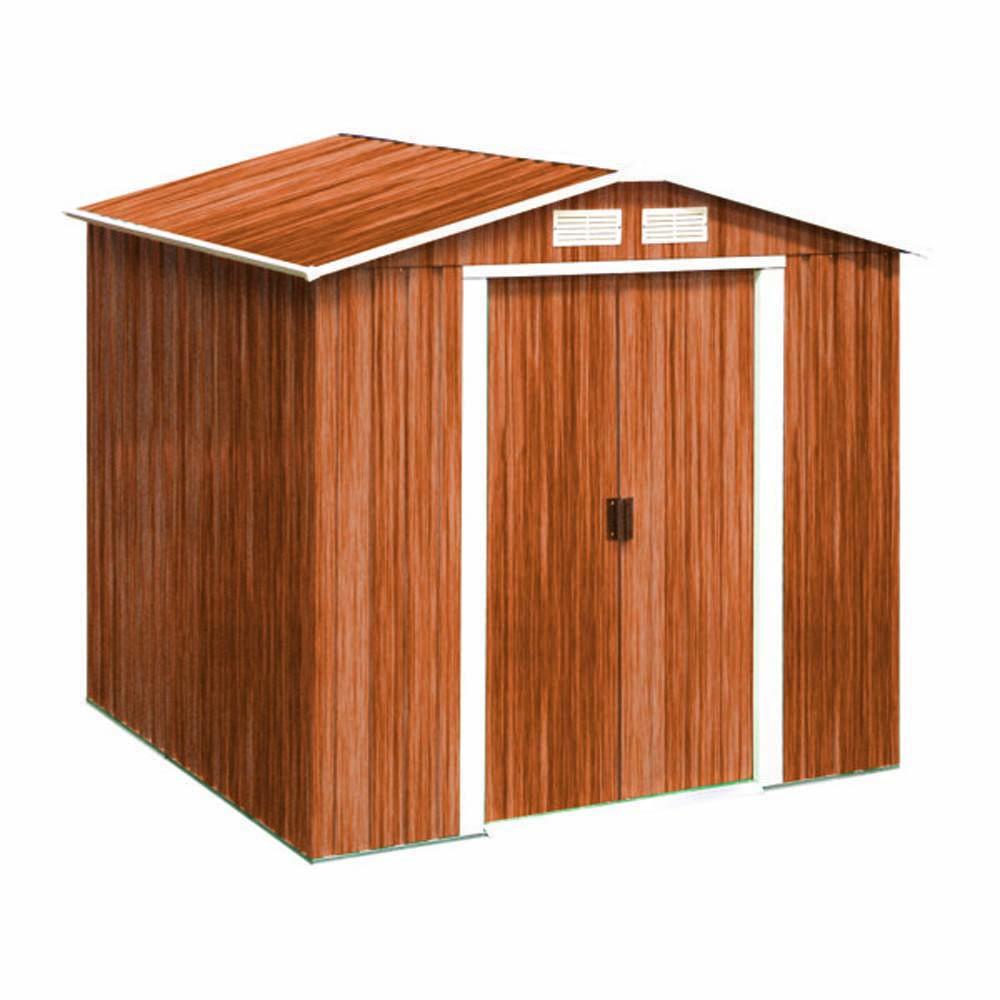 Gerätehäuser - Tepro Metallgerätehaus 6x6 Holzoptik RIVERTON  - Onlineshop ETC Shop