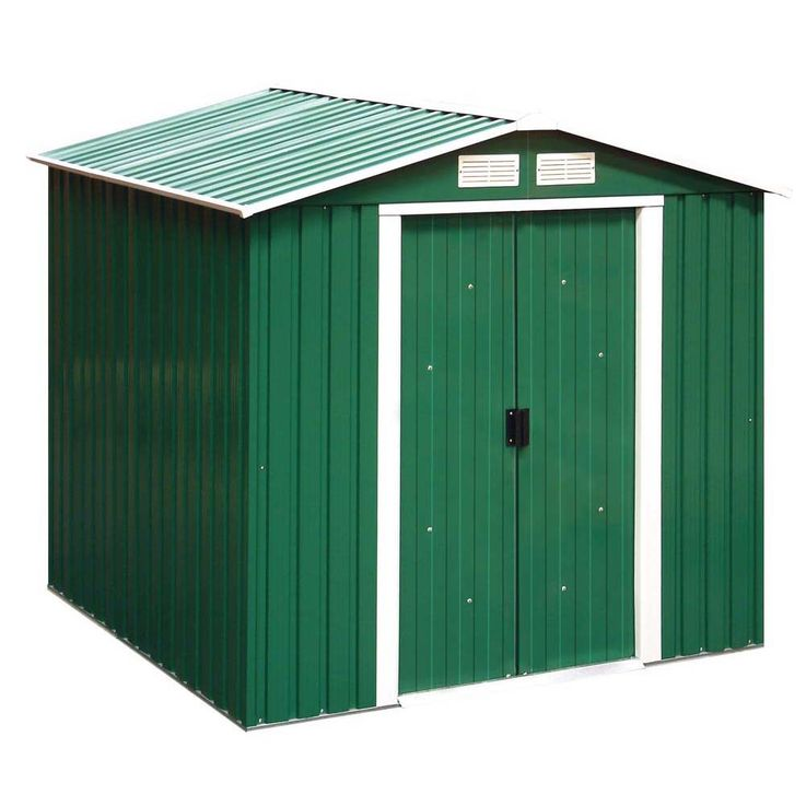 Tepro Metallgerätehaus 6x6 grün RIVERTON HAUSTYP1A – Bild 1