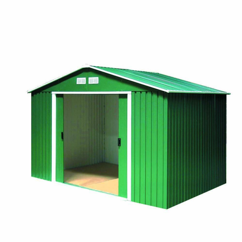 Gerätehäuser - Tepro Metallgerätehaus inkl. Unterkonstruktion 8x8 grün TITAN  - Onlineshop ETC Shop