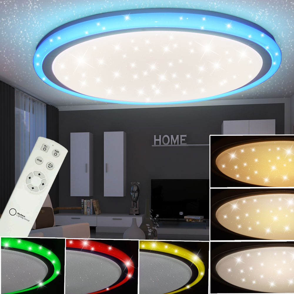 rgb led 32 w decken lampe kinderzimmer cct sternen effekt. Black Bedroom Furniture Sets. Home Design Ideas