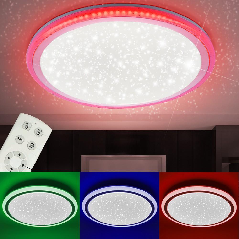 RGB LED Deckenlampe mit Sternen Himmel Optik CCT Schaltung – Bild 4