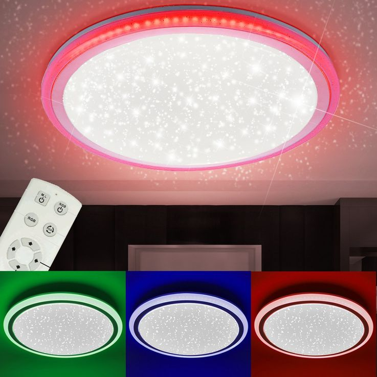 RGB LED 32WCeiling Lamp Hallway Stars Sky Effect Spotlight Remote  Lights  Direct 15220-16 – Bild 3