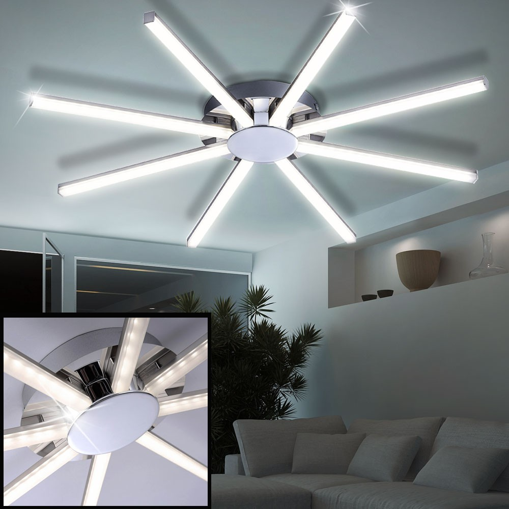 24 watt led deckenlampe g stezimmer beleuchtung sternf rmig durchmesser 65 5 cm ebay. Black Bedroom Furniture Sets. Home Design Ideas