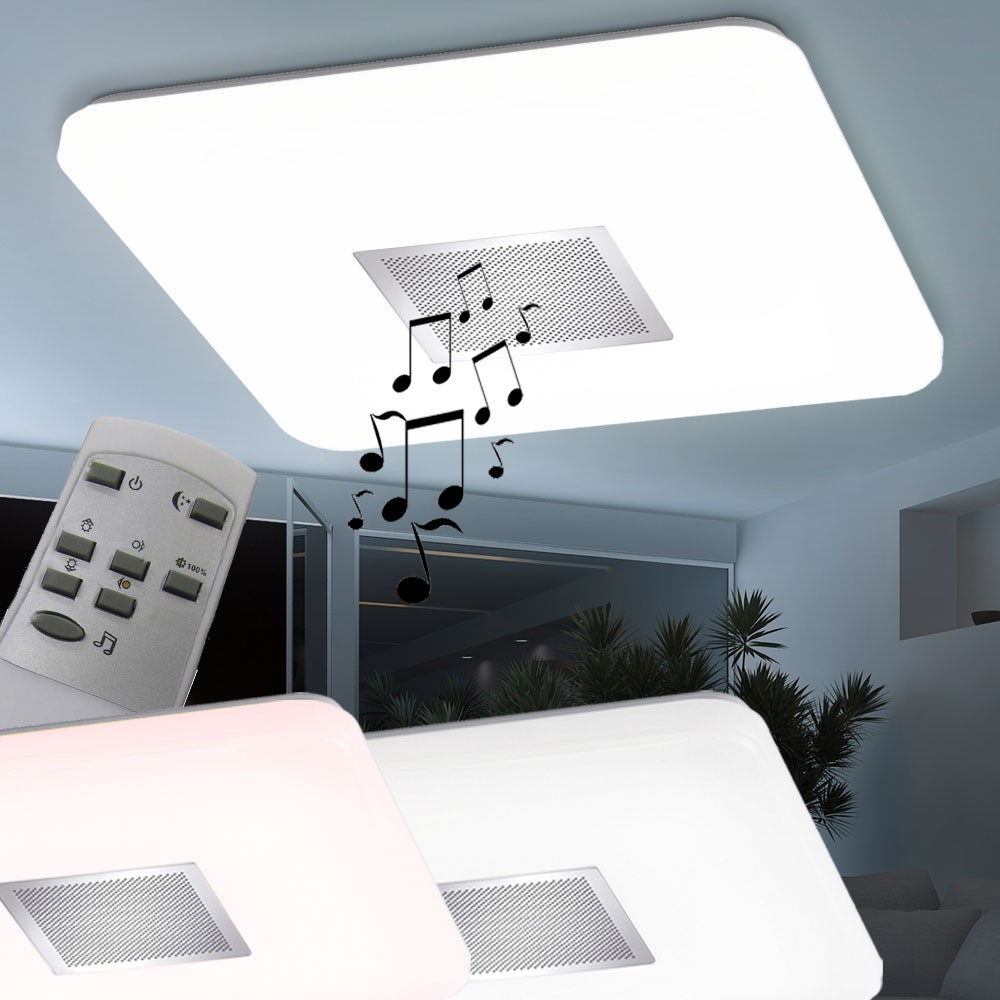 led 45 watt decken lampe cct steuerung dimmer beleuchtung bluetooth lautsprecher ebay. Black Bedroom Furniture Sets. Home Design Ideas