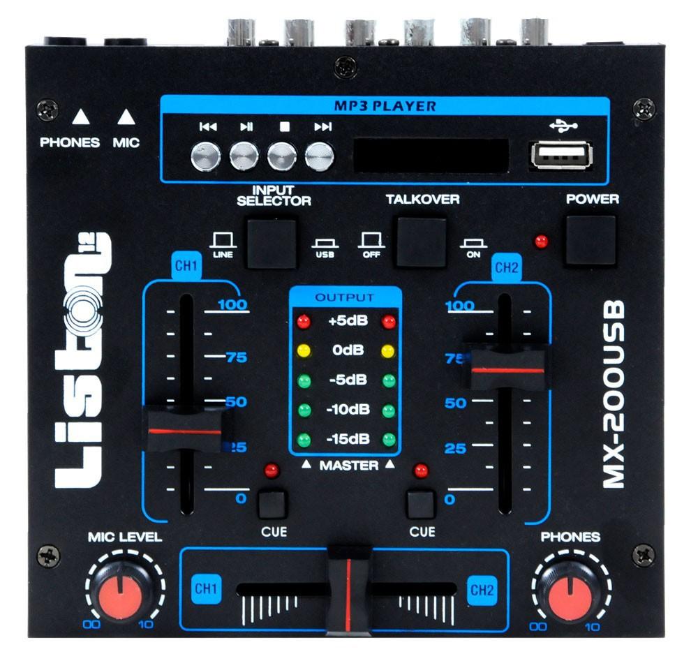 Karneval PA Anlage mit USB Mixer und vier Boxen DJ-Alaaf – Bild 4