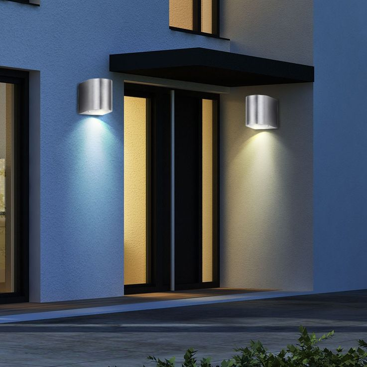 RGB LED Wall lamp for outdoor use with remote control – Bild 12