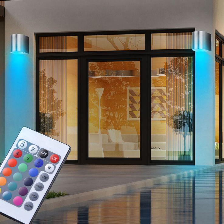 Lampe de mur de LED RVB pour l'usage extérieur avec télécommande – Bild 4