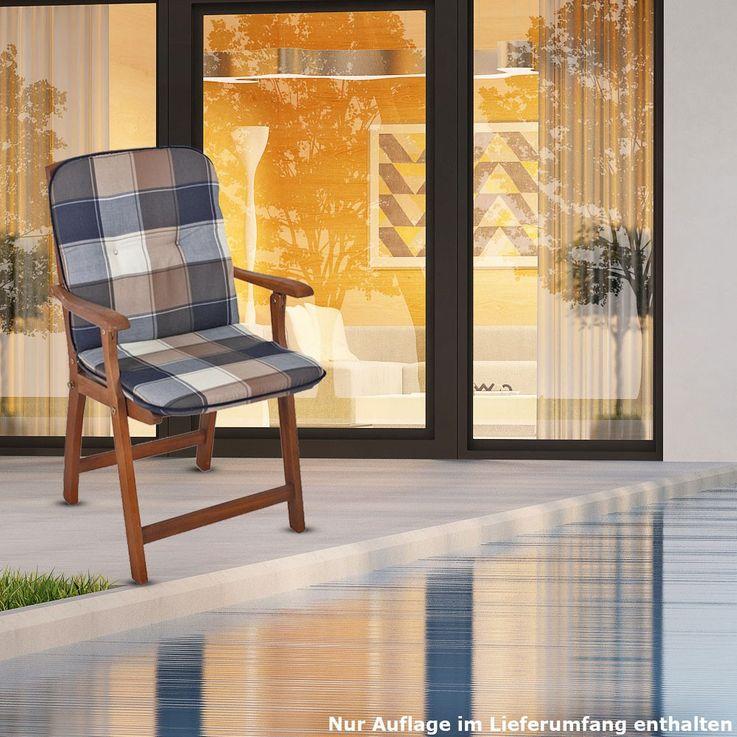 Niederlehner seat pad in the Plaid design CARDIFF – Bild 2