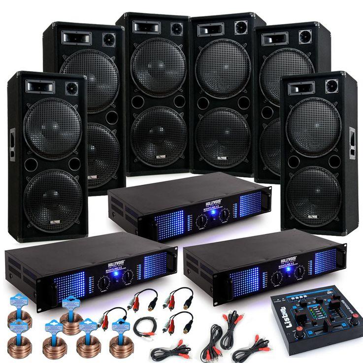 9000W PA parti Carnaval système x 6 boîtes à musique 3 x amplificateur haut-parleur DJ Jeck – Bild 1