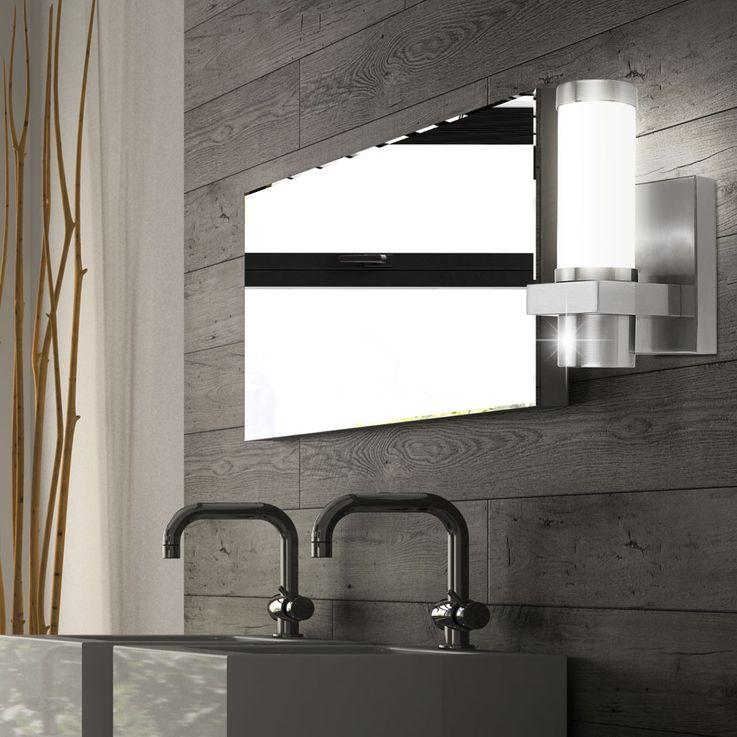 Exterior wall spotlight IP44 weatherproof Design glass Terrace lighting silver matt Starlux 30441 – Bild 4