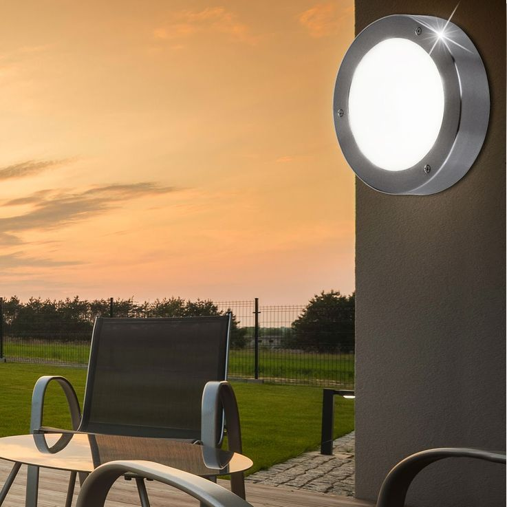 LED outdoor wall light anthracite glass house door IP44 light EGLO 30907 – Bild 2