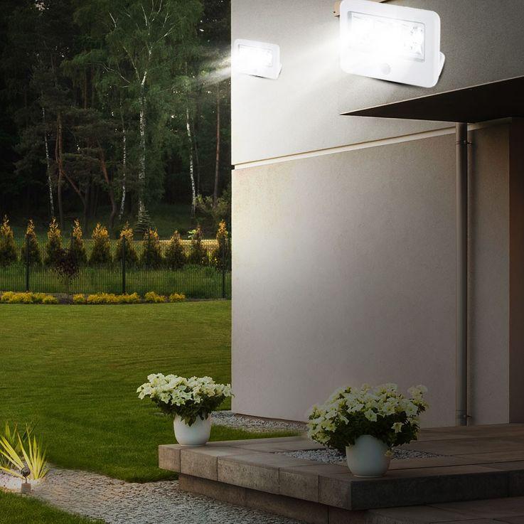 LED Wand Leuchte Außen Beleuchtung Bewegungsmelder Strahler Reichweite 4 Meter Lampe IP54 Eglo 94399 – Bild 9