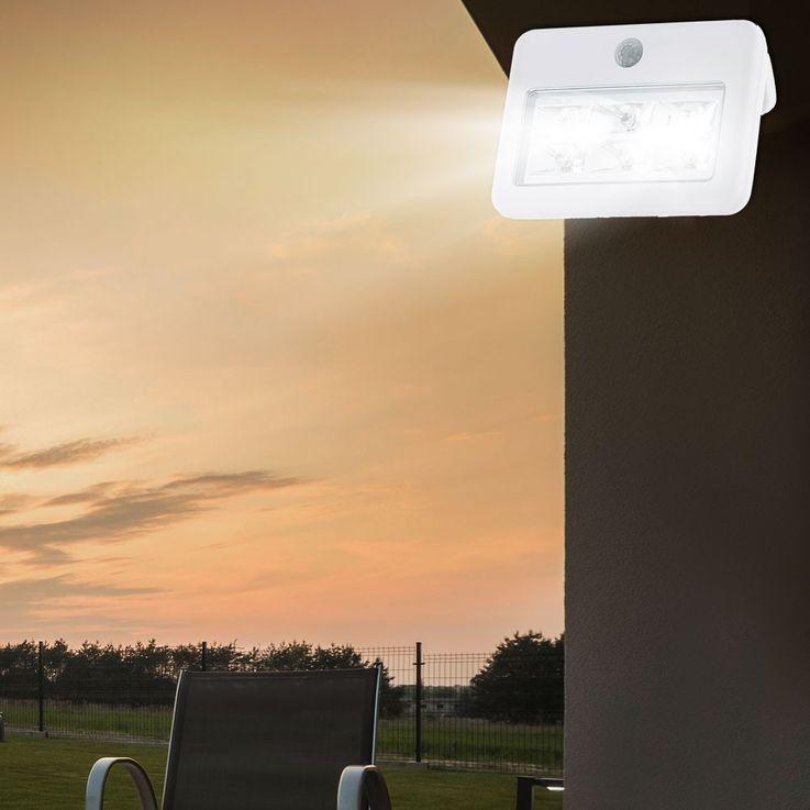 LED Wand Leuchte Außen Beleuchtung Bewegungsmelder Strahler Reichweite 4 Meter Lampe IP54 Eglo 94399 – Bild 8