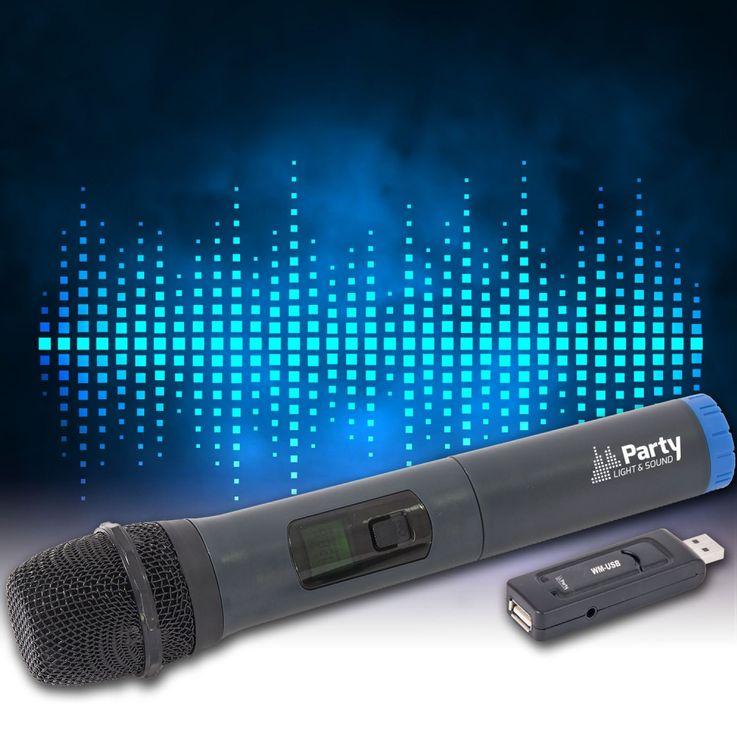 UHF Funksystem mit USB Stick Empfänger und Mikrofon 15-3055 – Bild 2