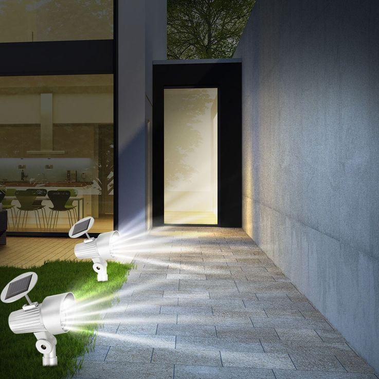 Lampe solaire DEL jardin terrasse éclairage LED spot luminaire extérieur  – Bild 5