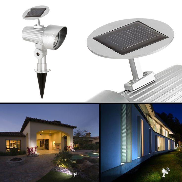 Lampe solaire DEL jardin terrasse éclairage LED spot luminaire extérieur  – Bild 2