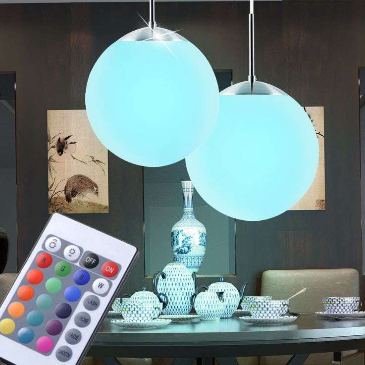 2 set RGB LED pendant lights for the living room CAFE 20 – Bild 2