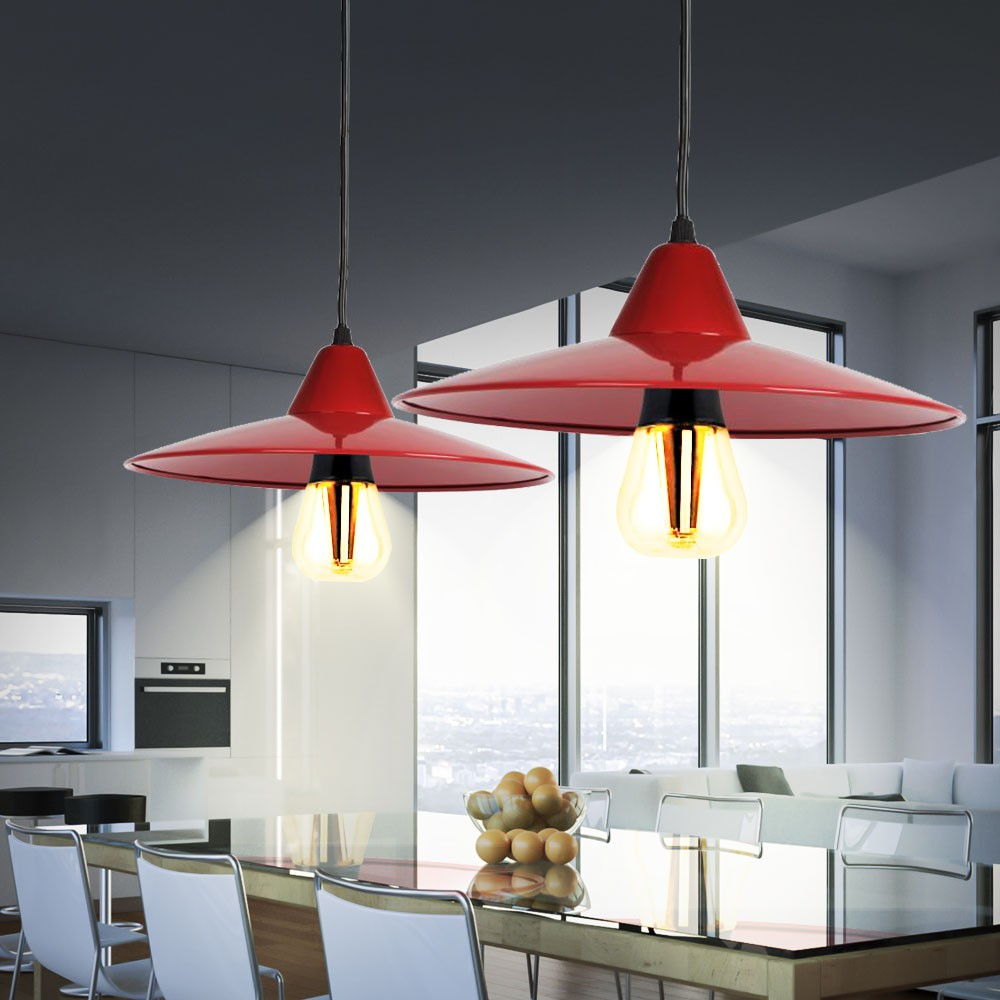led pendelleuchte in rot f r ihre vier w nde jovit lampen m bel r ume wohnzimmer. Black Bedroom Furniture Sets. Home Design Ideas