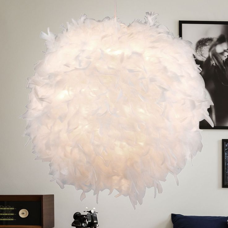 Design hanging light living dining room spring ball lamp white ceiling pendant lighting  Globo 15058 – Bild 4
