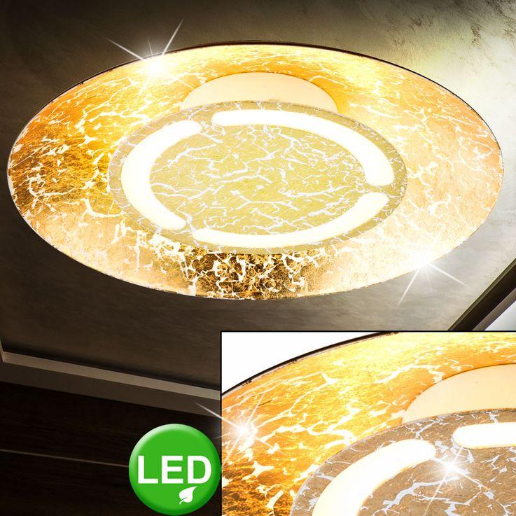 LED 6 Watt Ceiling Light round Illumination Gold Colors White patinated EEK A + Lamp Globo 41900-6 – Bild 2