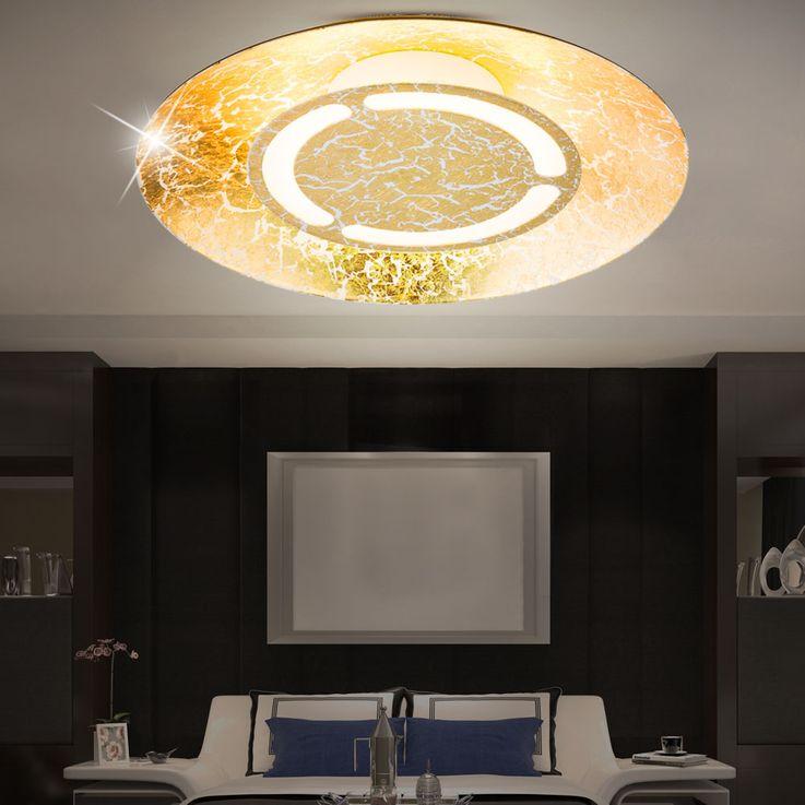LED 6 Watt Ceiling Light round Illumination Gold Colors White patinated EEK A + Lamp Globo 41900-6 – Bild 5