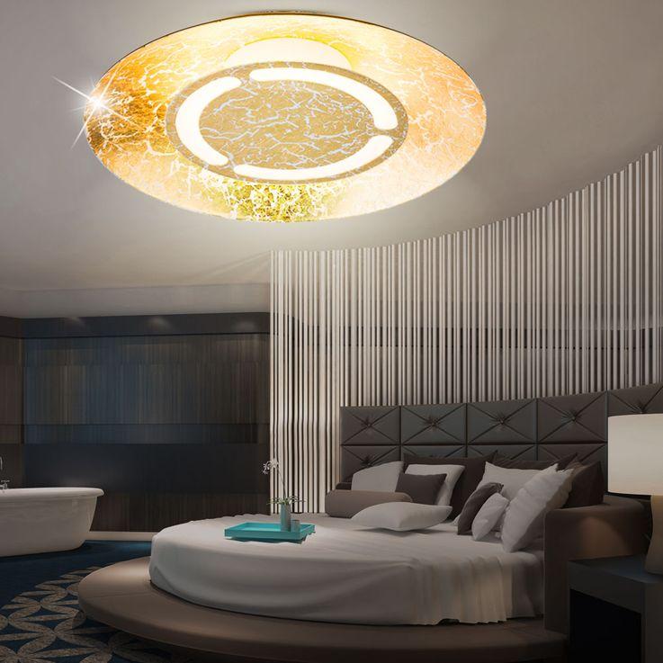 LED 6 Watt Ceiling Light round Illumination Gold Colors White patinated EEK A + Lamp Globo 41900-6 – Bild 6