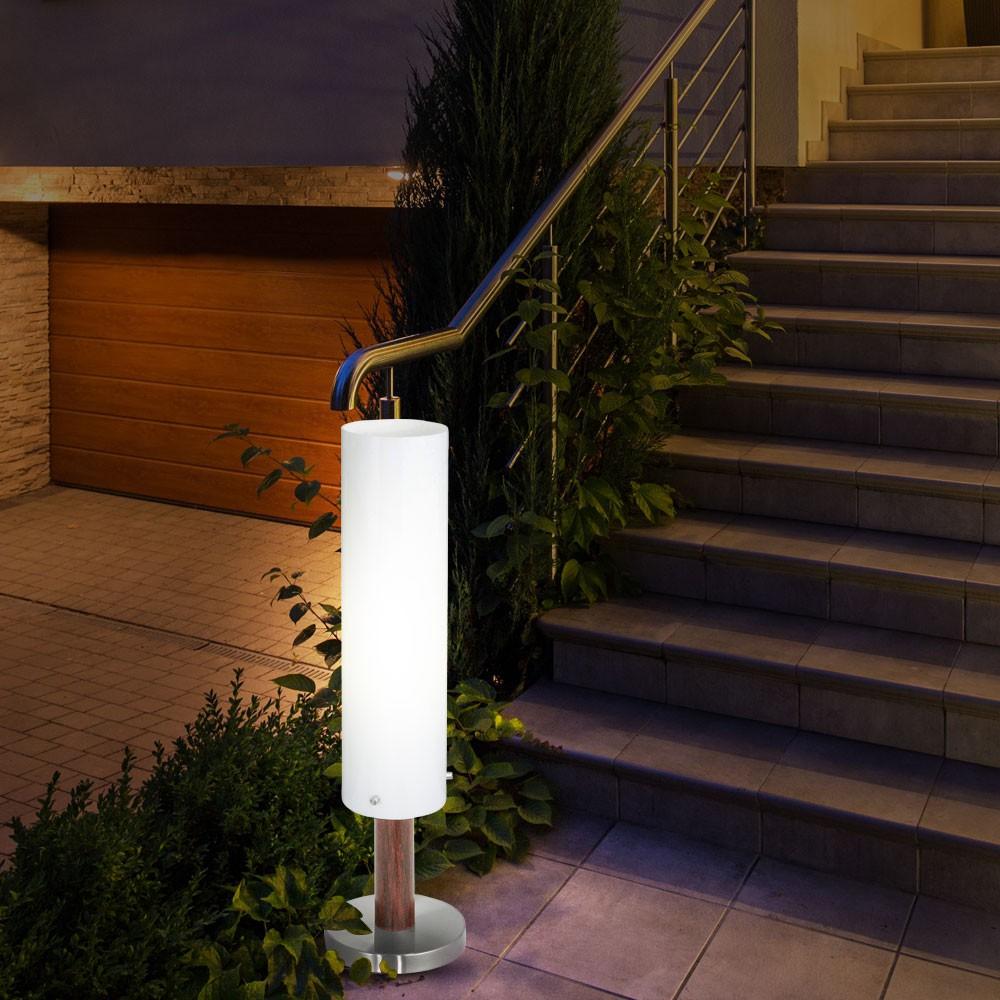 4er set edelstahl weg beleuchtung terrasse au en lampen. Black Bedroom Furniture Sets. Home Design Ideas