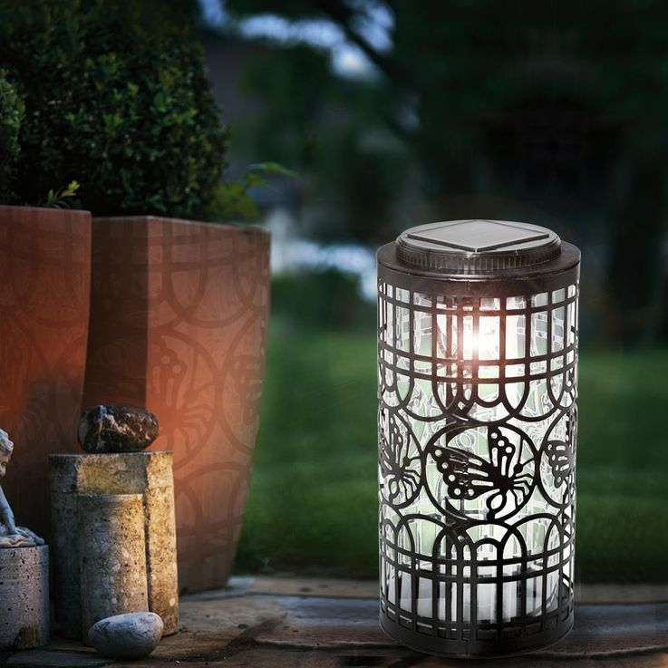 4er Set LED Solarleuchten mit Schmetterling-Motiv SOLAR – Bild 4