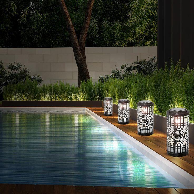 4er Set LED Solarleuchten mit Schmetterling-Motiv SOLAR – Bild 2