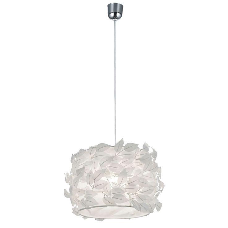 Suspension lustre feuilles blanc textile salle de séjour chambre éclairage luminaire plafond – Bild 1