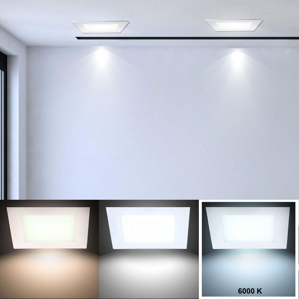 led panel aus alu in wei zur decken und wandmontage vt 307 lampen m bel b ro gewerbe led. Black Bedroom Furniture Sets. Home Design Ideas