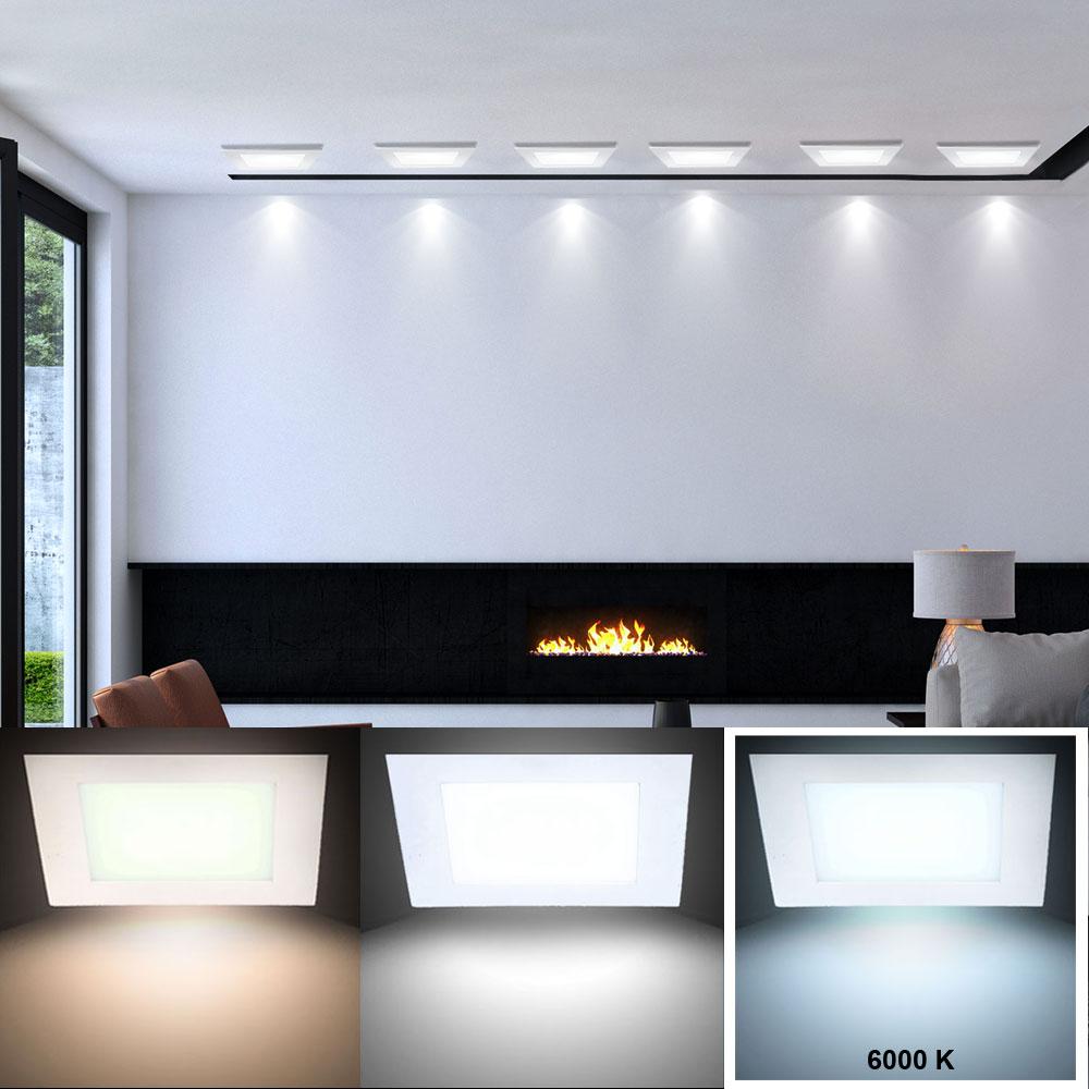 luxus led panel decken einbau leuchte raster lampe tageslicht beleuchtung 6000 k ebay. Black Bedroom Furniture Sets. Home Design Ideas