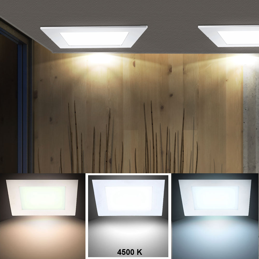 led panel aus alu in wei zur decken und wandmontage vt 607 lampen m bel b ro gewerbe led. Black Bedroom Furniture Sets. Home Design Ideas